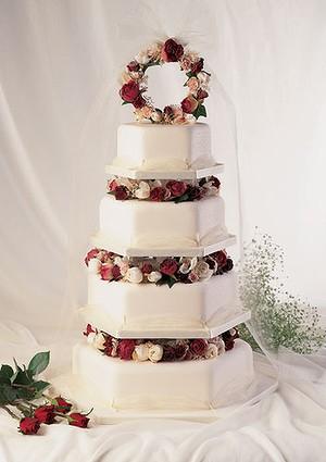 Tulle Wedding Cake